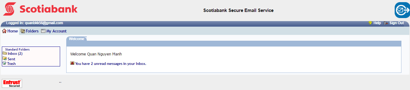 Kích hoạt email hệ thống scotiabank 3.2