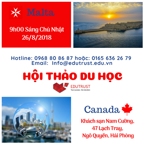 Hội thảo du học Canada và Malta tại Hải Phòng