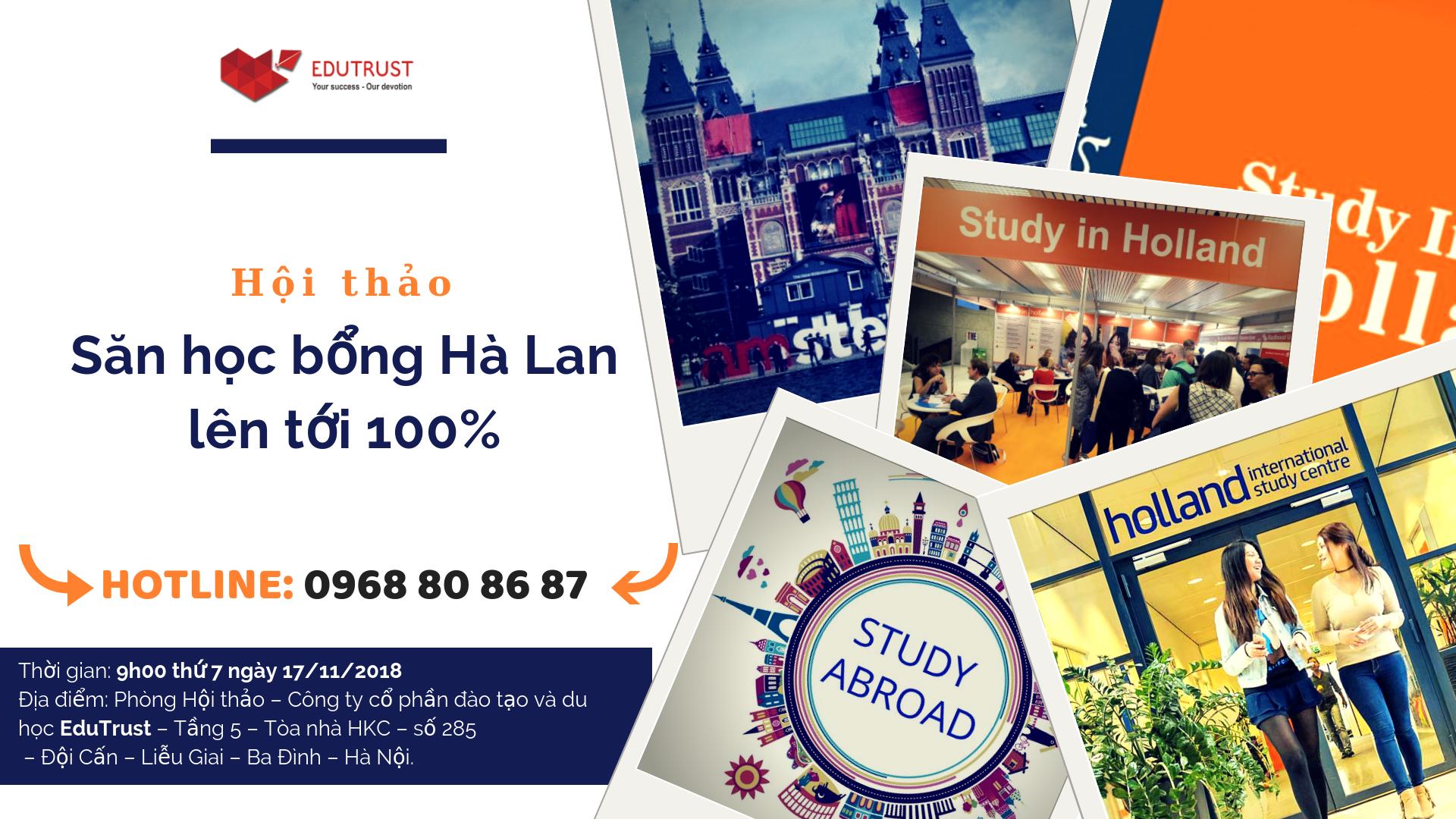 Săn học bổng du học Hà Lan lên tới 100%