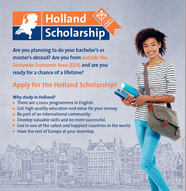 [Hà Lan] Học bổng Holland lên tới €5,000